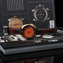 Carica l'immagine nel visualizzatore di Gallery, Bronze Watch 6105 Turtle Homage 44mm NH35A 30ATM Orange Dial