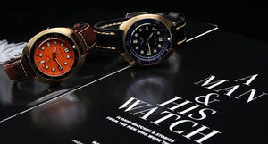 Bronze Watch 6105 Turtle Homage 44mm NH35A 30ATM Orange Dial