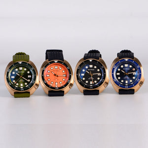 Bronze Turtle 6105 Homage Green Dial NH35A 300M Water Resistant