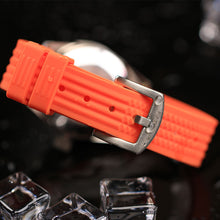 Load image into Gallery viewer, Orange 62Mas Homage NH35A  Waffle Strap Vintage Watch