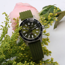 Load image into Gallery viewer, 6217 8000 Reissue NH35A Green Dial Waffle Strap SLA107 Homage