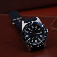 Load image into Gallery viewer, SLA107 Homage 6217 Reissue NH35A Blue Dial Waffle Strap