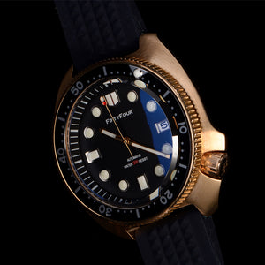 Bronze Turtle 6105 Homage Black Dial NH35A 300M Water Resistant