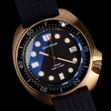 Load image into Gallery viewer, Bronze Turtle 6105 Homage Black Dial NH35A 300M Water Resistant