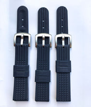 Load image into Gallery viewer, 20mm Black Rubber Strap for 6217 6015 / R02X011J0 with metal buckle