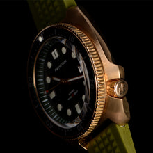 Load image into Gallery viewer, Bronze Turtle 6105 Homage Green Dial NH35A 300M Water Resistant