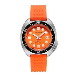 SEIKO Homage 6105 Turtle orange dial