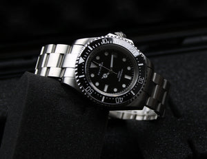 1000meter Water Resisstant Diver Watch Black Dial Rolex Homage 116600