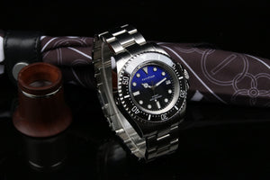 Blue Sea Deweller 116600 Homage NH35A Mechanical Sold band 100ATM Water Resistant