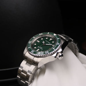 Deepsea Green 100ATM Water Resisstant Diver Watch Green Dial NH35A Movt