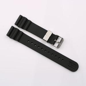 20mm Black Rubber Strap for MM300 SBDX017 / R02X011J0 with metal buckle
