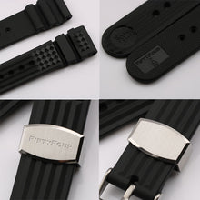 Load image into Gallery viewer, 20mm Black Rubber Strap for MM300 SBDX017 / R02X011J0 with metal buckle