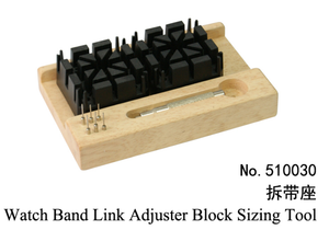 Watch band link adjuster black sizing tool