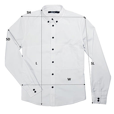 Men's Collar Shirt Size Chart