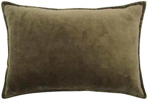 Cushion - 40 cm x 60 cm - Velvet - Green