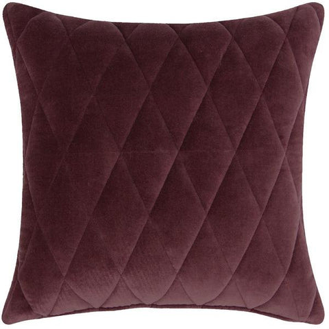 Cushion - 45 cm x 45 cm - Diamond Velvet - Purple