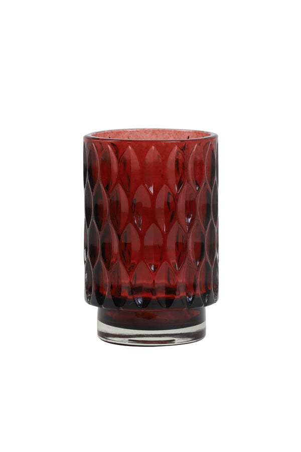 Tealight - Grace - Ø9 x 13 cm - Glass Ruby Red