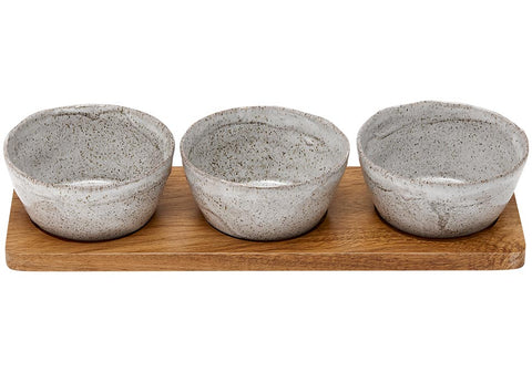 Ladelle - Artisan Porcelain 4 Piece Deep Bowl Set - Grey