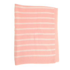 Pink and White Stripes Blanket