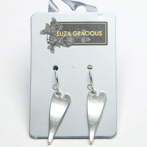 Earrings - Elongated Heart Dropper.