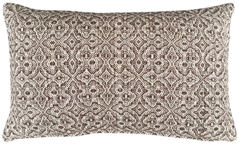 Cushion - 30 cm 50 cm - Geometrical - Brown / Natural - 30 cm x 50 cm