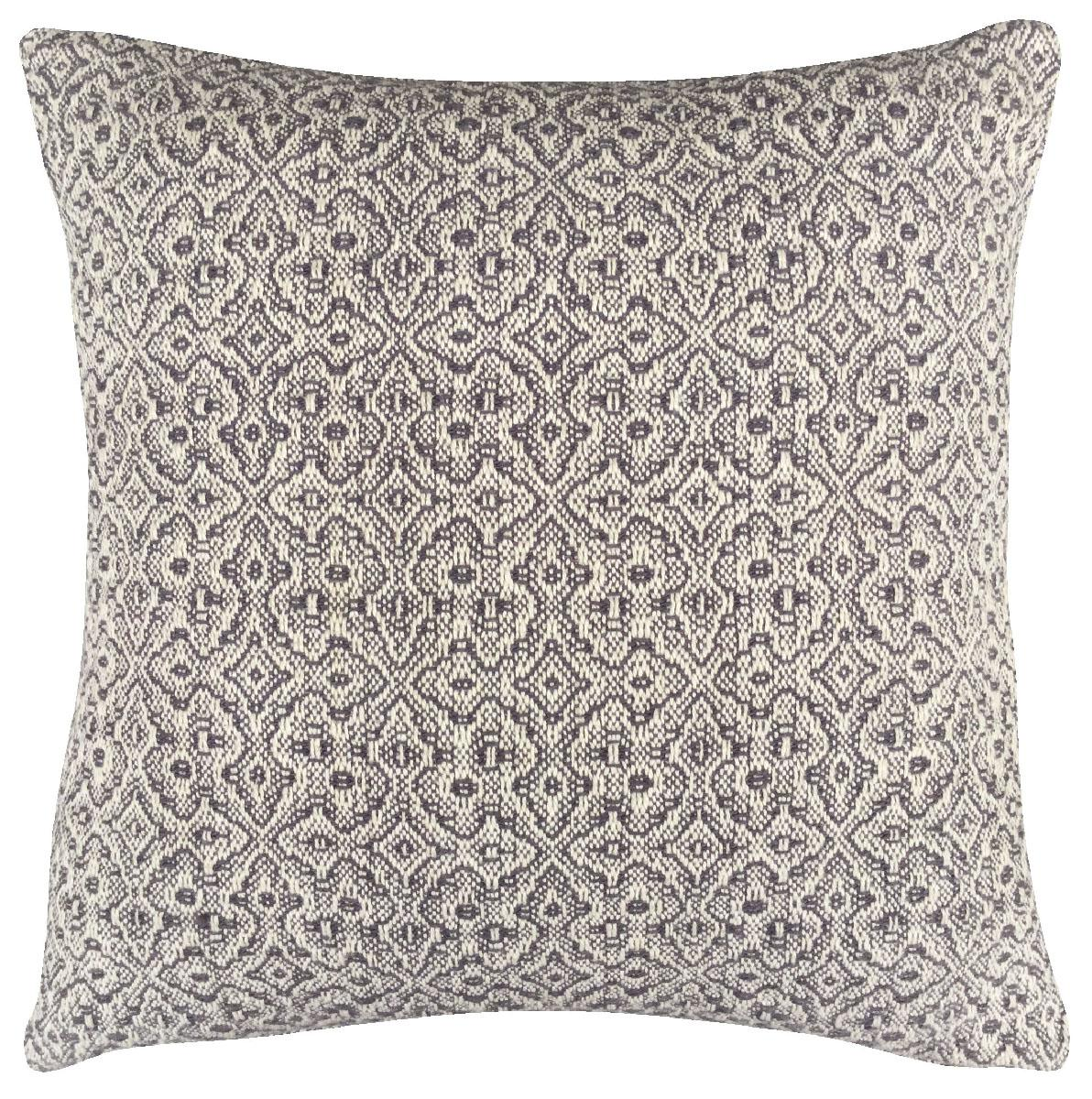 Cushion - 45 cm x 45 cm - Geometrical - Grey / Natural