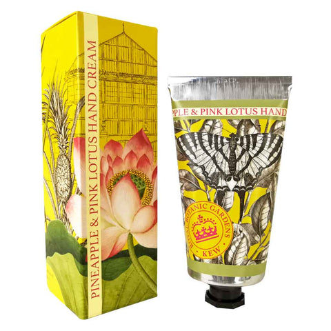 Kew Gardens Hand Cream - Pineapple and Pink Lotus - 75ml