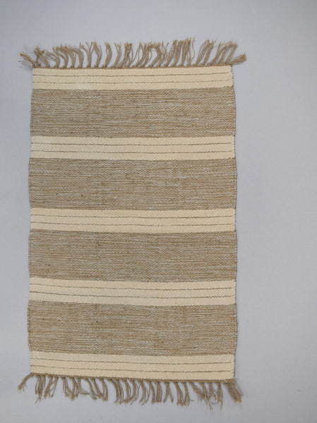 Rug - 90 cm x 150 cm - Natural Jute / Cotton