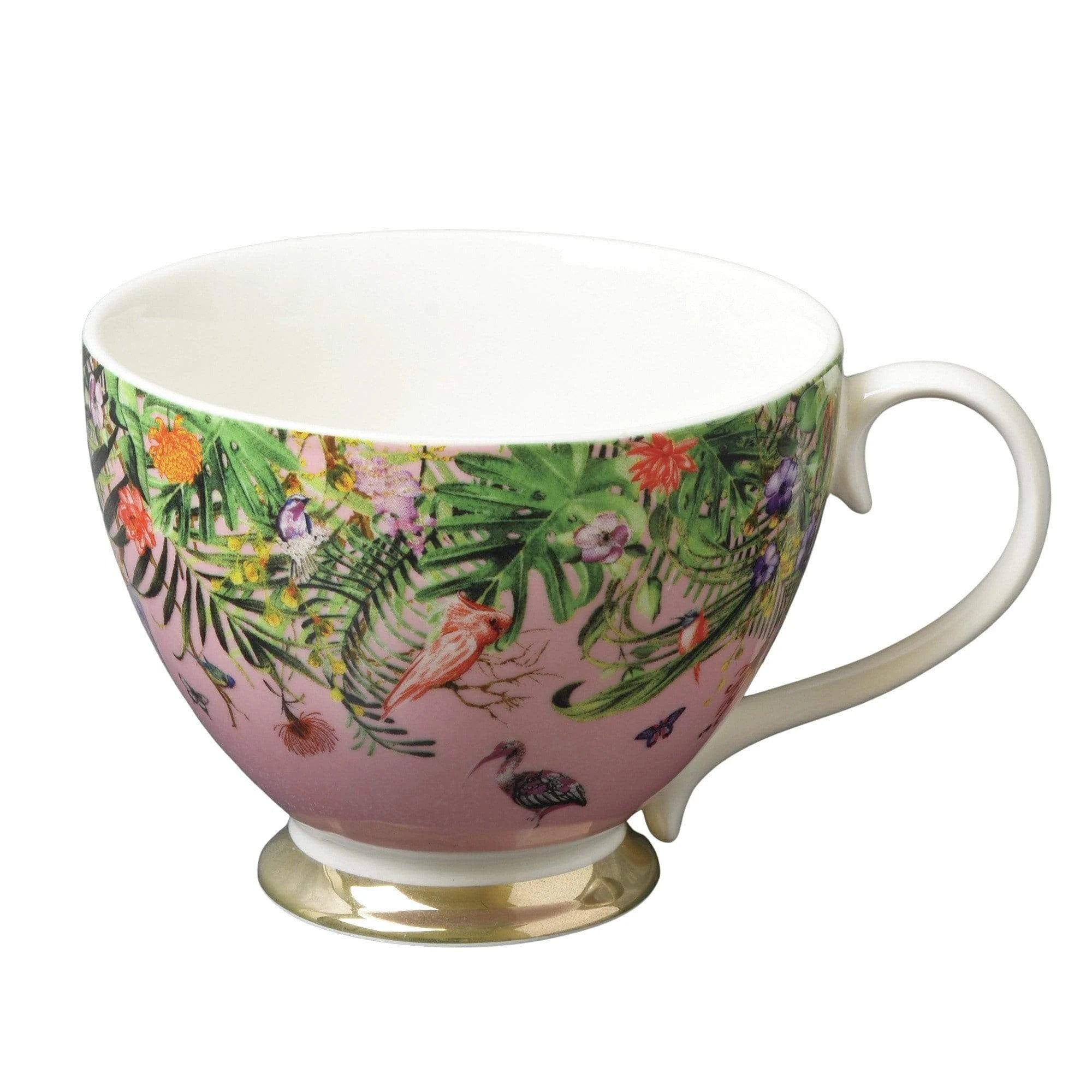 Chinoiserie Footed Mug - Pink