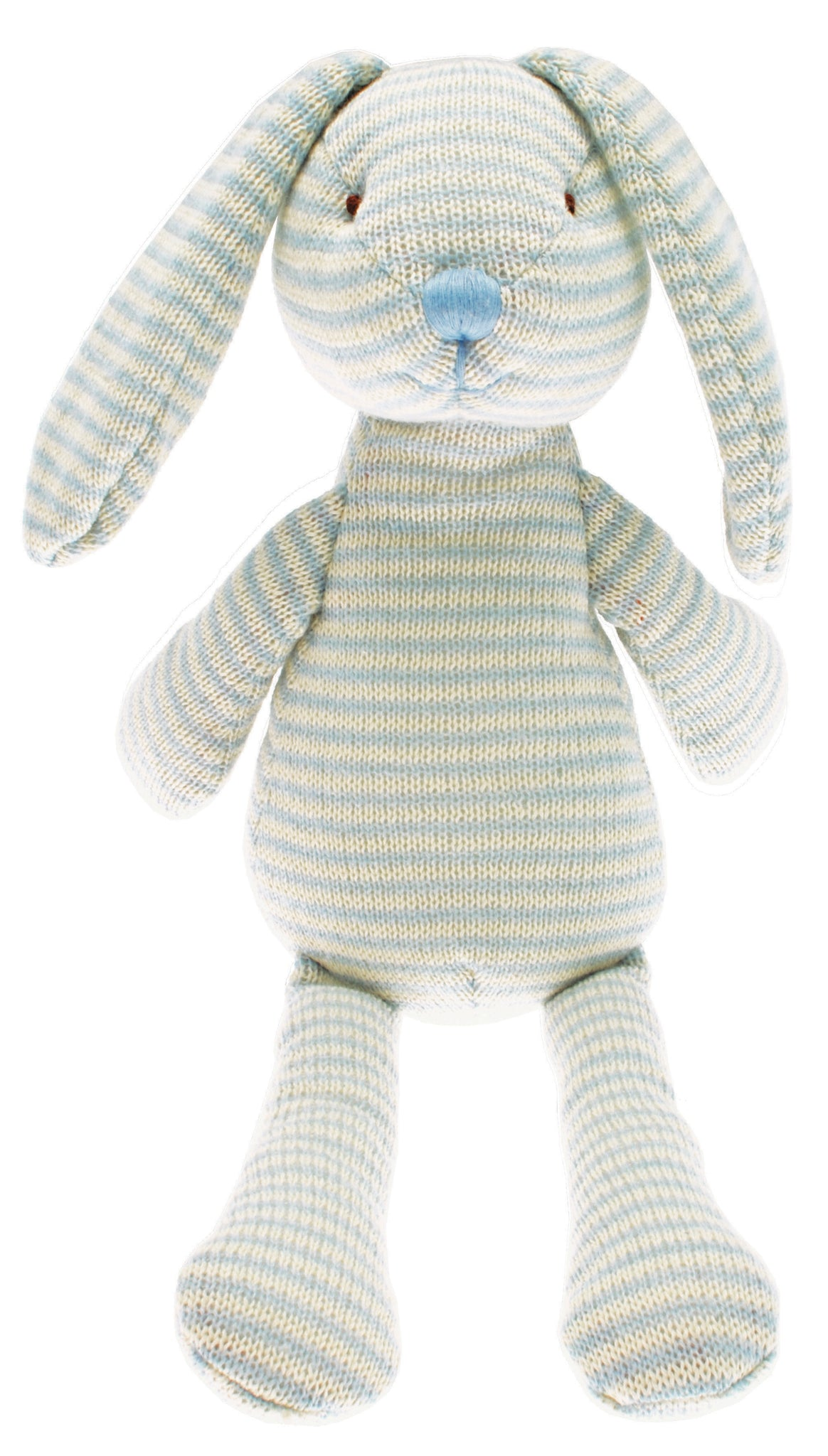 Knitted stripe rabbit - Robbie