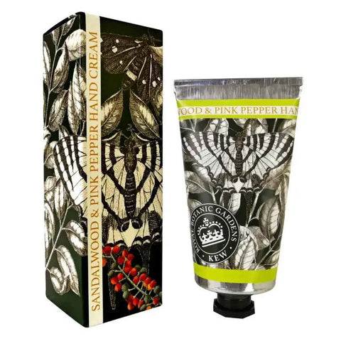 Kew Gardens Hand Cream - Sandalwood and Pink Pepper - 75ml