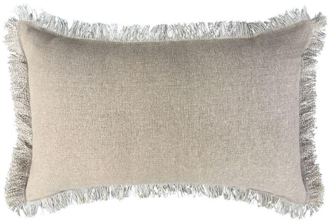 Cushion - 30 cm x 50 cm - Solid - Self Fringes