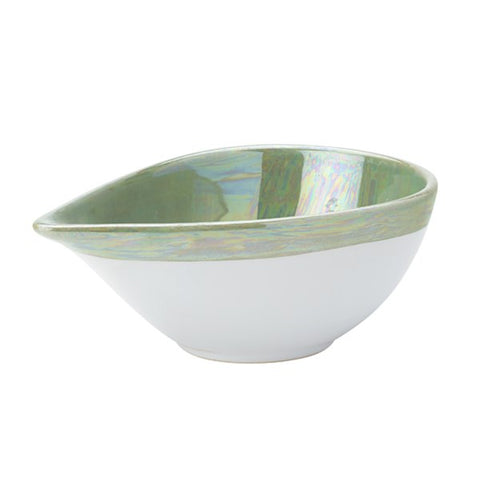 Reflections Teardrop Green Bowl