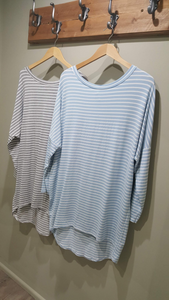 Top - Stripe Dipped Hem