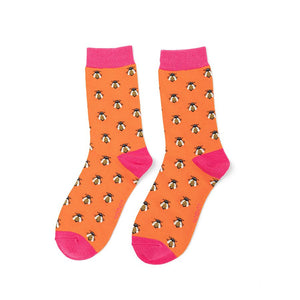 Socks - Women's - Honey Bee - Burnt Orange