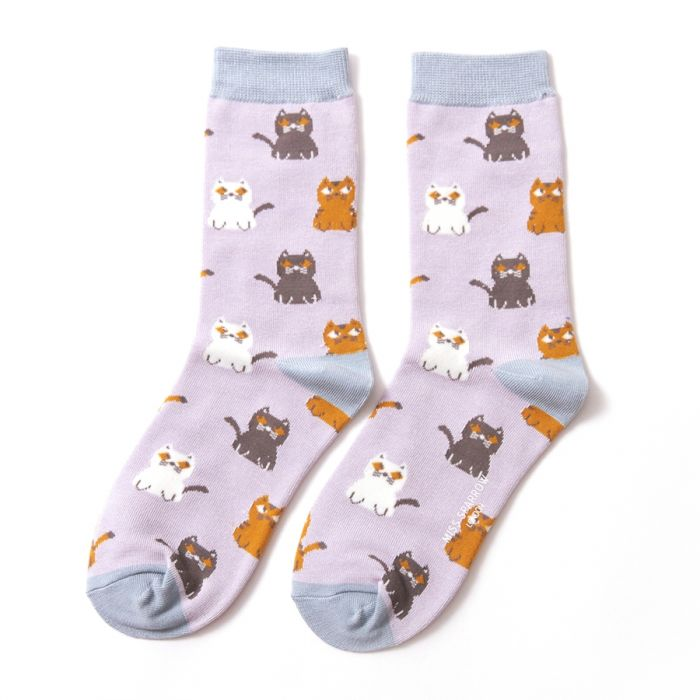 Socks - Women's - Kitties - Sliver