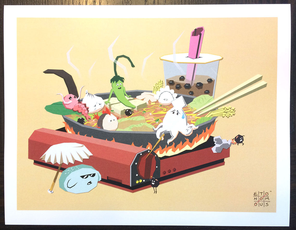 Hot Pot Foodballs Art Print