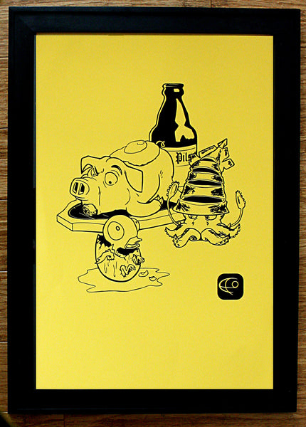 Pulutan Food Silk Screen Art Print