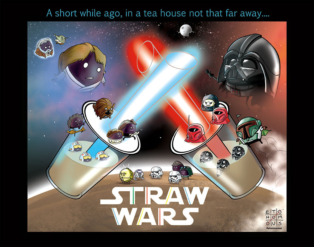 Straw Wars Art Print
