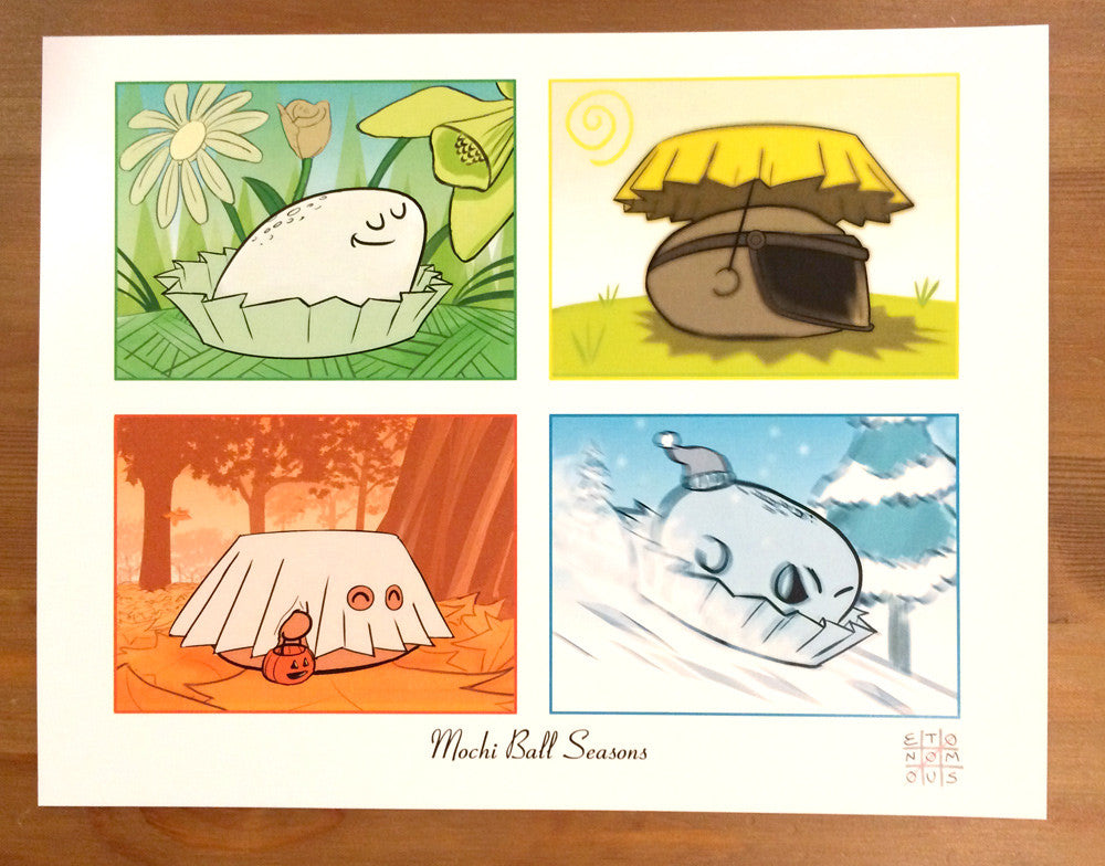 Mochi Ball Seasons - Art Print