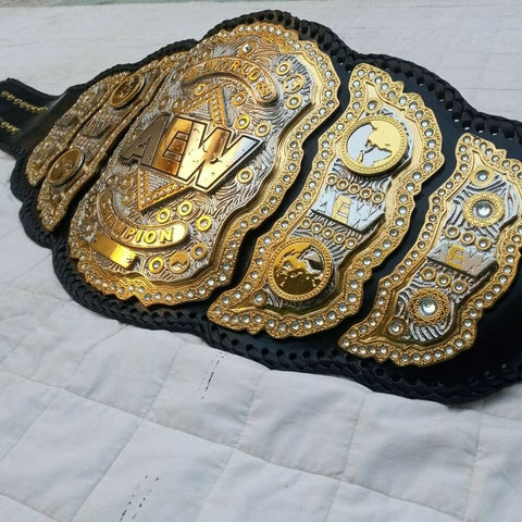AEW Championship Belt 24K Gold Replica - Zees Belts