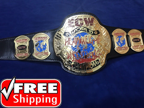 ECW WORLD HEAVYWEIGHT 24K GOLD Championship Belt - Zees Belts