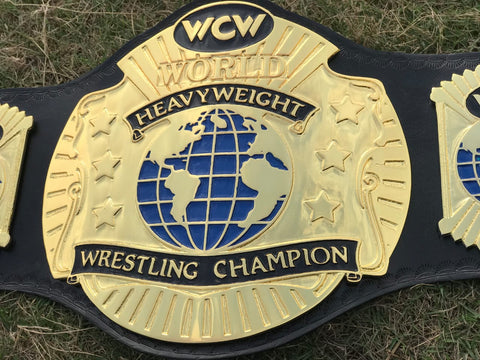 WCW WORLD TAG TEAM 24K GOLD Zinc Championship Belt - Zees Belts