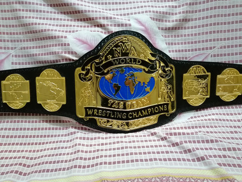 NWA WORLD TAG TEAM 24K GOLD Zinc Wrestling Championship Belt - Zees Belts