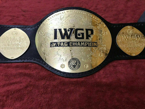 IWGP JR TAG TEAM 24K GOLD Championship Belt - Zees Belts