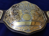 NWA BIG GOLD 24K GOLD Zinc Championship Belt - Zees Belts