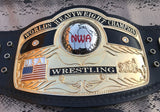 NWA DOMED GLOBE HEAVYWEIGHT 24K GOLD Zinc Championship Belt - Zees Belts
