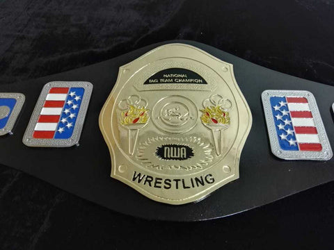 NWA NATIONAL TAG TEAM Zinc Championship Belt - Zees Belts