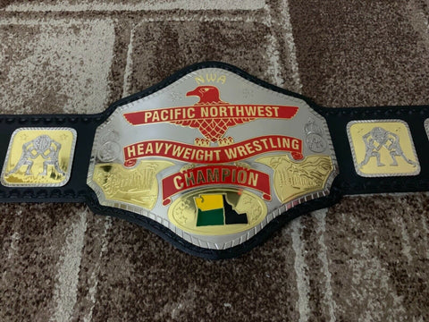 NWA PACIFIC NORTHWEST Brass Championship Belt - Zees Belts