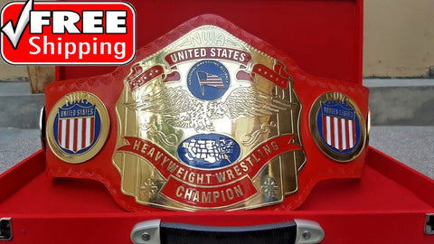 NWA US TAG TEAM Brass Championship Belt - Zees Belts